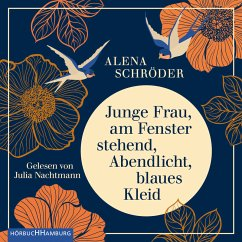 Junge Frau, am Fenster stehend, Abendlicht, blaues Kleid (MP3-Download) - Schröder, Alena