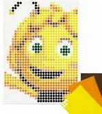 dot on art - DIY-Klebeposter, Bastelset, Stickerset - Motiv: Biene Maja, 30x4