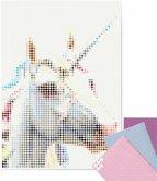 dot on art - DIY-Klebeposter, Bastelset, Stickerset - Motiv: Unicorn, 50x70 cm