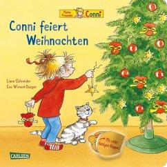 Conni feiert Weihnachten (Pappenbuch mit Klappen) (Mängelexemplar) - Schneider, Liane