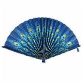 Fiesta And Siesta - Folding Paper Fan - Peacock