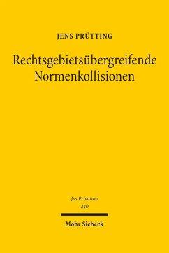 Rechtsgebietsübergreifende Normenkollisionen (eBook, PDF) - Prütting, Jens
