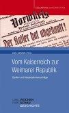 Vom Kaiserreich zur Weimarer Republik (eBook, PDF)
