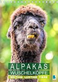 Alpakas: Wuschelköpfe - Edition lustige Tiere (Tischkalender 2021 DIN A5 hoch)