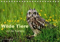 Wilde Tiere vor der Kamera (Tischkalender 2021 DIN A5 quer)
