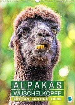 Alpakas: Wuschelköpfe - Edition lustige Tiere (Wandkalender 2021 DIN A3 hoch)