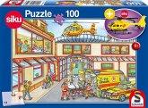 Schmidt 56352 - Rettungshubschrauber (SIKU 0856) mit Puzzle, 100 Teile