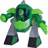 Simba 109402464 - PJ Masks Turbo Roboter Gecko, mit Licht, mit Kanone, 23cm