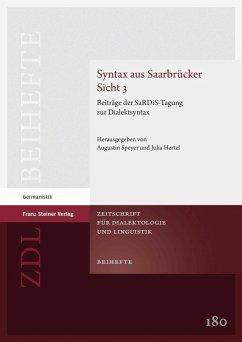 Syntax aus Saarbrücker Sicht 3 (eBook, PDF)