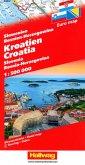 Kroatien-Slowenien-Bosnien-Herzegowina Strassenkarte 1:500 000