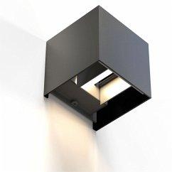 Hama WiFi Wandleuchte 10cm IP44 quadratisch Schwarz