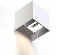 Hama WiFi Wandleuchte 10cm IP44 quadratisch Weiß
