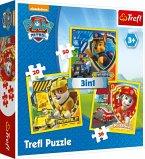 Trefl 34839 - Paw Patrol, Puzzle 3 in 1, 20/36/50 Teile
