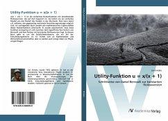 Utility-Funktion u = x/(x + 1)
