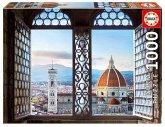 Carletto 9218460 - Educa, Views of Florence, Florenz, Puzzle, 1000 Teile