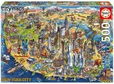 Carletto 9218453 - Educa, city maps, New York City, Puzzle, 500 Teile