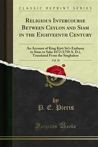 Religious Intercourse Between Ceylon and Siam in the Eighteenth Century (eBook, PDF)
