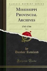 Mississippi Provincial Archives (eBook, PDF)