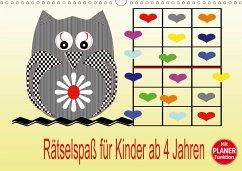 Rätselspaß für Kinder ab 4 Jahren (Wandkalender 2021 DIN A3 quer)