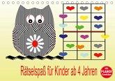 Rätselspaß für Kinder ab 4 Jahren (Tischkalender 2021 DIN A5 quer)