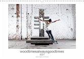 woodtimesalwaysgoodtimes - skateboard fotografie von tim korbmacher (Wandkalender 2021 DIN A3 quer)