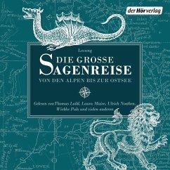 Die große Sagenreise, 6 Audio-CD - Bechstein, Ludwig;Grimm, Jacob