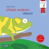 Vicky Bo's Sticker-Malbuch Urwald: Erstes Malen, Zeichnen und Kritzeln mit Stickern