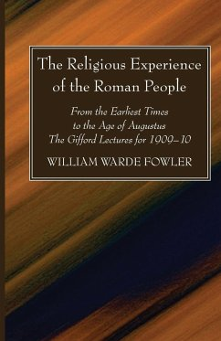 The Religious Experience of the Roman People