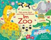 Mein erster Block zum Malen und Rätseln: Im Zoo
