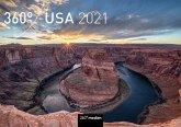 360° USA Klappkalender 2021