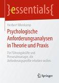 Psychologische Anforderungsanalysen in Theorie und Praxis (eBook, PDF)