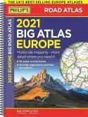 2021 Philip's Big Road Atlas Europe