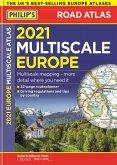 2021 Philip's Multiscale Road Atlas Europe