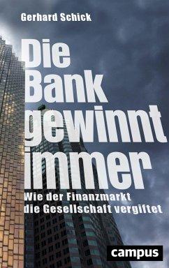 Die Bank gewinnt immer - Schick, Gerhard