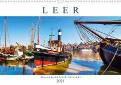 LEER Museumshafen und Altstadt (Wandkalender 2021 DIN A3 quer)