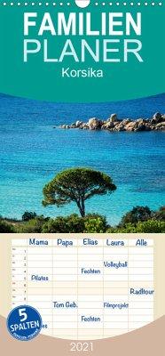 Korsika - Familienplaner hoch (Wandkalender 2021 , 21 cm x 45 cm, hoch)