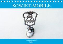 Sowjet-Mobile - Oldtimer der UdSSR (Tischkalender 2021 DIN A5 quer)