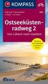 Fahrrad-Tourenkarte Ostseeküstenradweg, von Lübeck nach Usedom