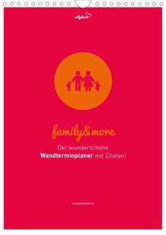 vollgeherzt: Familienplaner family&more - Der wunderschöne Wandterminplaner mit Zitaten! (Wandkalender 2021 DIN A4 hoch) - Vollgeherzt, Leo
