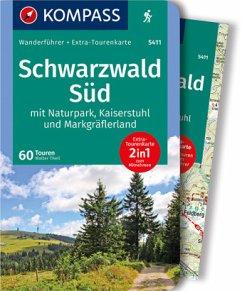 KOMPASS Wanderführer Schwarzwald Süd mit Naturpark, Kaiserstuhl und Markgräflerland - Theil, Walter