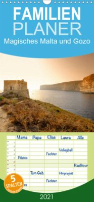 Magisches Malta und Gozo - Familienplaner hoch (Wandkalender 2021 , 21 cm x 45 cm, hoch)