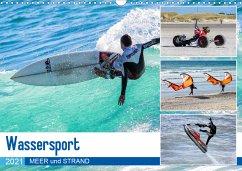 wassersport - meer und strand (wandkalender 2021 din a4