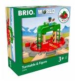 BRIO 33476 - World, Lok-Drehscheibe mit Kontrollbrücke und Figur