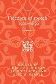 Freedom of speech, 1500-1850 (eBook, ePUB)