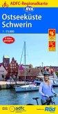 ADFC-Regionalkarte Ostseeküste Schwerin, 1:75.000, reiß- und wetterfest, GPS-Tracks Download