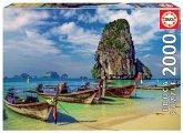 Carletto 9218007 - Educa, Krabi, Thailand, Puzzle, 2000 Teile