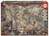 Carletto 9218008 - Educa, Pirates Map, Piratenkarte, Puzzle, 2000 Teile