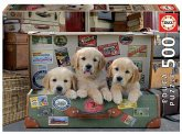 Carletto 9217645 - Educa, Puppies in the Luggage, Welpen, Puzzle, 500 Teile