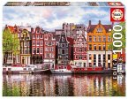 Carletto 9218458 - Educa, Dancing houses, Amsterdam, Puzzle, 1000 Teile