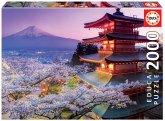 Carletto 9216775 - Educa, Mount Fuji, Japan, Puzzle, 2000 Teile